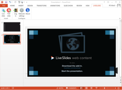 How do you display a Live Twitter Feed in a PowerPoint